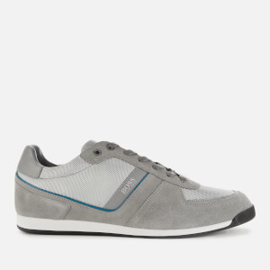 BOSS Men's Glaze Low Top Trainers - Grey