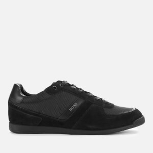BOSS Men's Glaze Low Top Trainers - Black