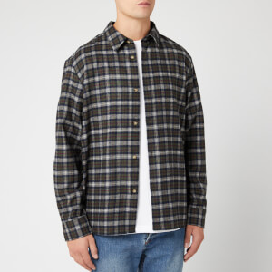 A.P.C. Men's Land Overshirt - Kaki Militaire