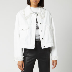 Christopher Kane Women's Pearl Denim Jacket - White