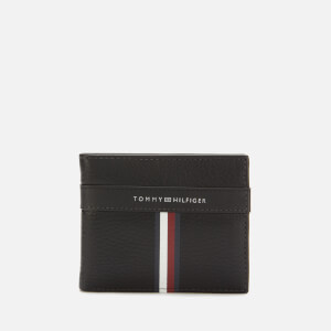 Tommy Hilfiger Men's Corporate Leather Mini Credit Card Wallet - Black