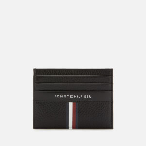 Tommy Hilfiger Men's Corporate Leather Mini Credit Card Holder - Black