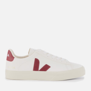 Veja Women's Campo Low Top Trainers - White/Marsala