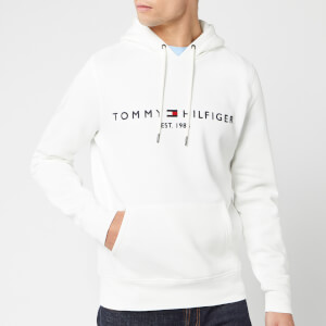 Tommy Hilfiger Men's Tommy Logo Hoodie - Snow White