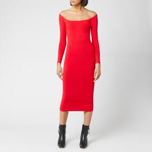 Alexander Wang Women's Long Sleeve Ankle Length Dress - Red