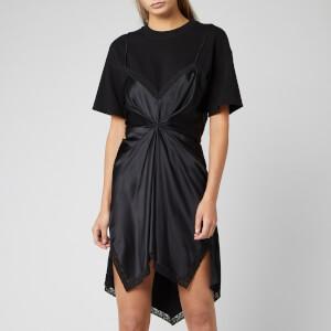 Alexander Wang Women's Cinched T-Shirt Slip Dress - Black