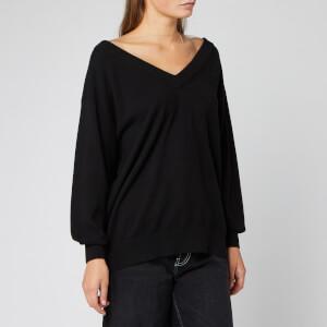 Alexander Wang Women's Oversized Long Sleeve Pullover - Black