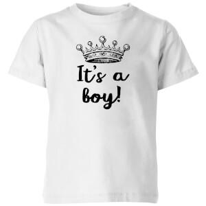 It's A Boy Kids' T-Shirt - White