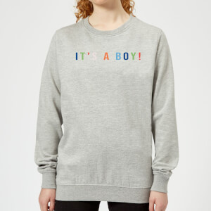 It's A Boy Women's Sweatshirt - Grey