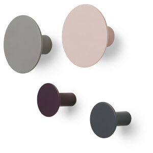 Blomus Ponto Set 4 Wall Hooks - Rose Dust