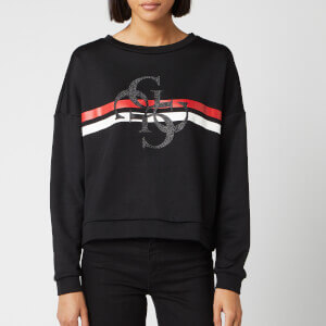 Guess Women's 4G Logo Sweater - Jet Black