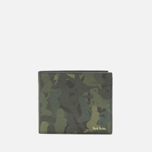 PS Paul Smith Men's Billfold Naked Lady Camo Wallet - Green
