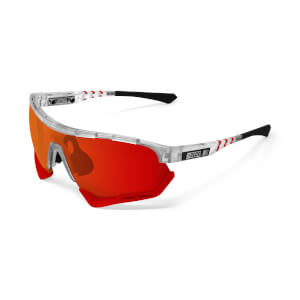Scicon Aerotech Sunglasses SCN-XT Photochromic Red Mirror Lens - Frozen Matt Frame