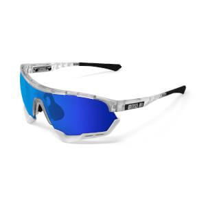 Scicon Aerotech Sunglasses SCN-XT Photochromic Blue Mirror Lens - Frozen Matt Frame