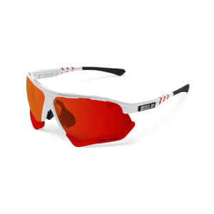 Scicon Aerocomfort Sunglasses SCN-XT Photochromic Red Mirror Lens - White Gloss Frame