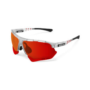 Scicon Aerocomfort Sunglasses SCN-XT Photochromic Red Mirror Lens - Frozen Matt Frame