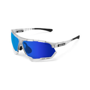 Scicon Aerocomfort Sunglasses SCN-XT Photochromic Blue Mirror Lens - Frozen Matt Frame
