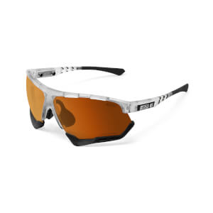 Scicon Aerocomfort Sunglasses SCN-XT Photochromic Bronze Mirror Lens - Frozen Matt Frame