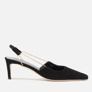 by FAR Women's Gabriella Suede Sling Back Court Shoes - Black