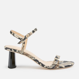 by FAR Women's Magnolia Snake Print Leather Barely There Heeled Sandals - Snake