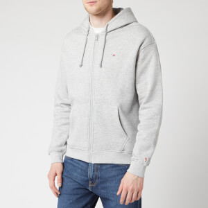 Tommy Jeans Men's Classic Zip Through Hoodie - Light Grey Heather