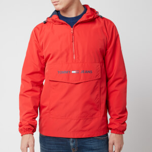 Tommy Jeans Men's Lightweight Pop Over Jacket - Flame Scarlet