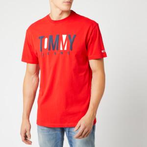 Tommy Jeans Men's Contrast Logo T-Shirt - Flame Scarlet