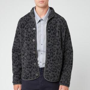 YMC Men's Leopard Beach Jacket - Charcoal/Navy