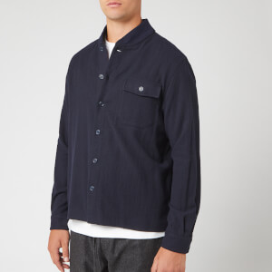 YMC Men's Delinquents Rib Collar Shirt - Navy