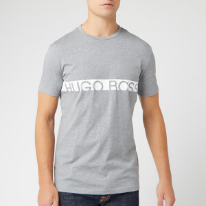 BOSS Men's Text Logo T-Shirt - Grey