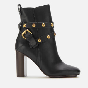 See By Chloé Women's Leather High Heeled Boots - Nero