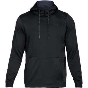 Under Armour Men's Armour Fleece Pull Over Hoodie - Black