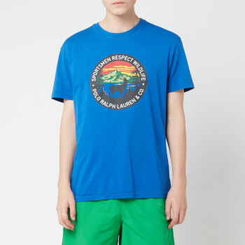 Polo Ralph Lauren Men's Sportsman Classic Fit T-Shirt - Blue Saturn