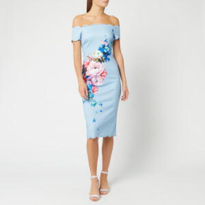 Ted Baker Women's Hailly Raspberry Ripple Bardot Dress - Light Blue