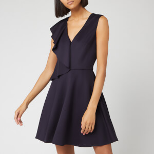 Ted Baker Women's Lantaa Ruffle Detail Skater Dress - Navy