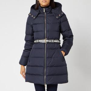 Armani Exchange Women's Belted Down Jacket - Navy