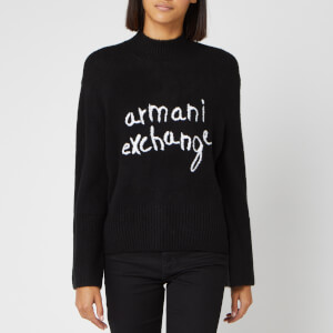 Armani Exchange Women's Logo Jumper - Black