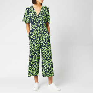 Whistles Women's Digital Daisy Print Button Jumpsuit - Navy/Multi