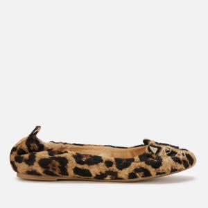 Charlotte Olympia Women's Kitty Ballerina Flats - Leopard
