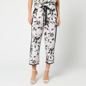 Diane von Furstenberg Women's Lulu Trousers - Caribean Floral Lavender Fog