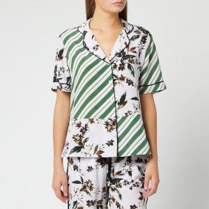 Diane von Furstenberg Women's Iman Shirt - Caribean Floral Lavender Fog