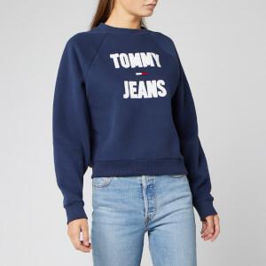 Tommy Jeans Women's Logo Raglan Sweatshirt - Black Iris