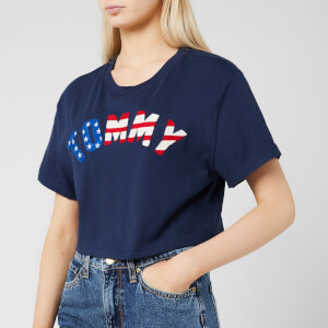 Tommy Jeans Women's Tommy US Flag T-Shirt - Black Iris