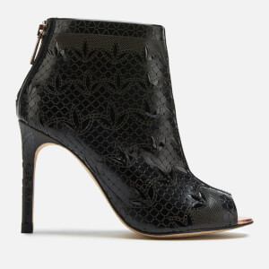 Ted Baker Women's Hauula Open Toe Shoe Boots - Black