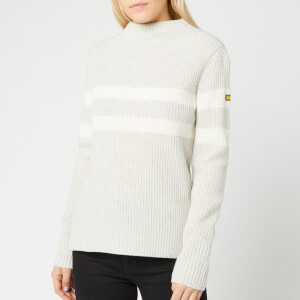 Barbour International Women's Quayle Knit Jumper - Pale Grey Marl