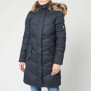 Barbour Women's Sternway Quilt Coat - Navy Marl/Navy