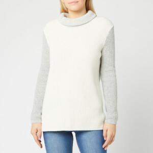 Barbour Women's Dipton Roll Collar Jumper - Cloud/Grey Marl