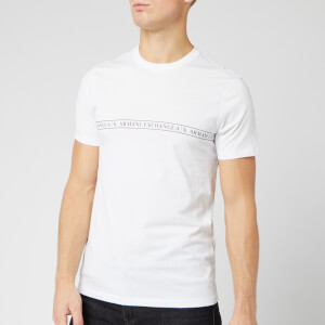 Armani Exchange Men's Strip Logo T-Shirt - White