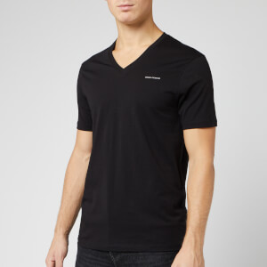 Armani Exchange Men's V Neck T-Shirt - Black