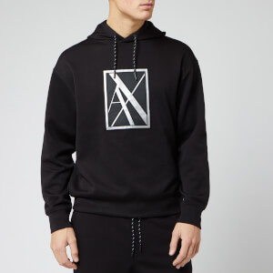 Armani Exchange Men's AX Box Logo Overhead Hoody - Black